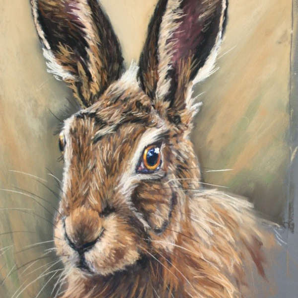Hare portrait by Cath Inglis