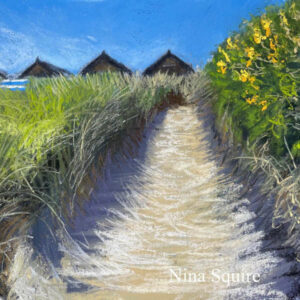 Dorset Dunes pastel painting by Nina Squire