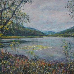 Loch Lomond pastel painting by Peter Wood.